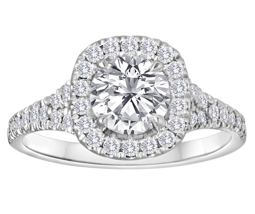 Lazare Kaplan Donatella diamond engagement ring