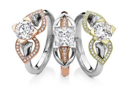 MaeVona Eriksay pave Wings engagement rings
