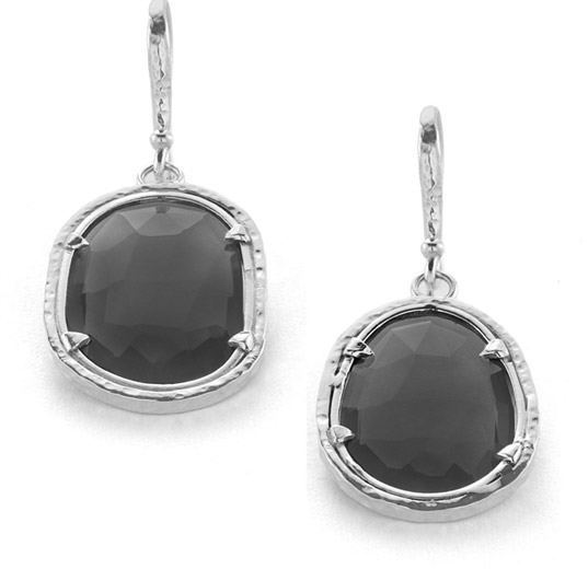 KIR black onyx Polki earrings
