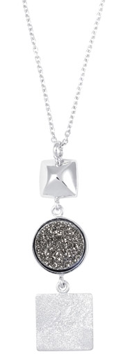 Frederic Duclos lightning drusy geometric necklace