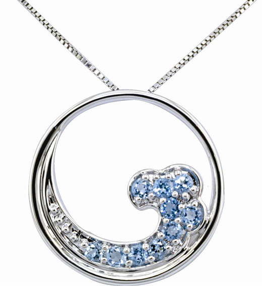 Parle Jewelry Designs blue topaz Wave pendant