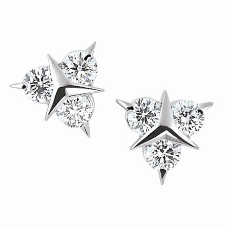 Garavelli Mercedes collection diamond stud earrings