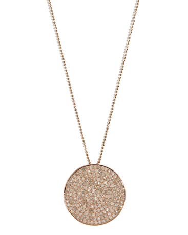 Meredith Marks Blair disc pendant with Christina clasp