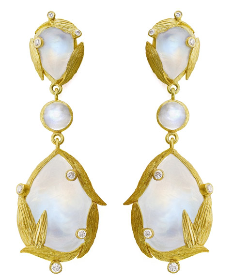 Laurie Kaiser Lemongrass triple drop earrings