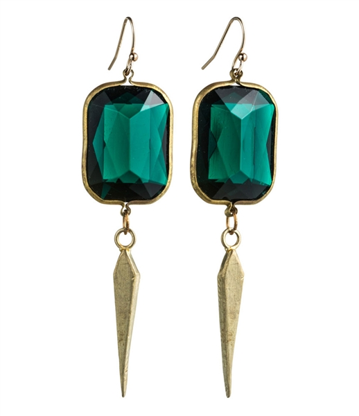Natalie Frigo Deco Daggers drop earrings