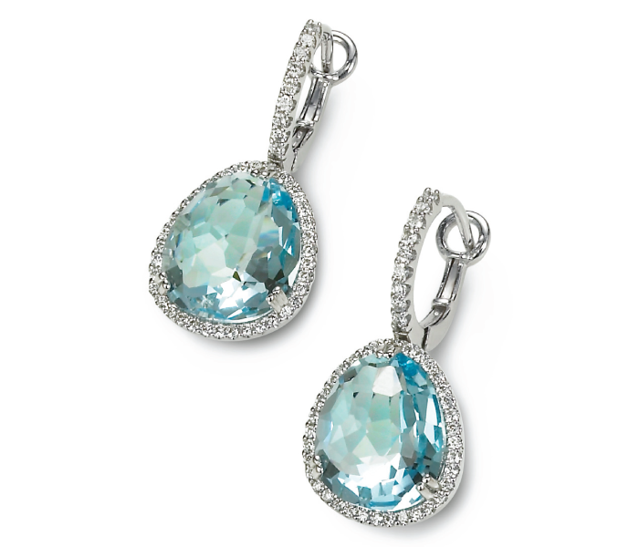 Cordova by Ron Rosen blue topaz Candy earrings