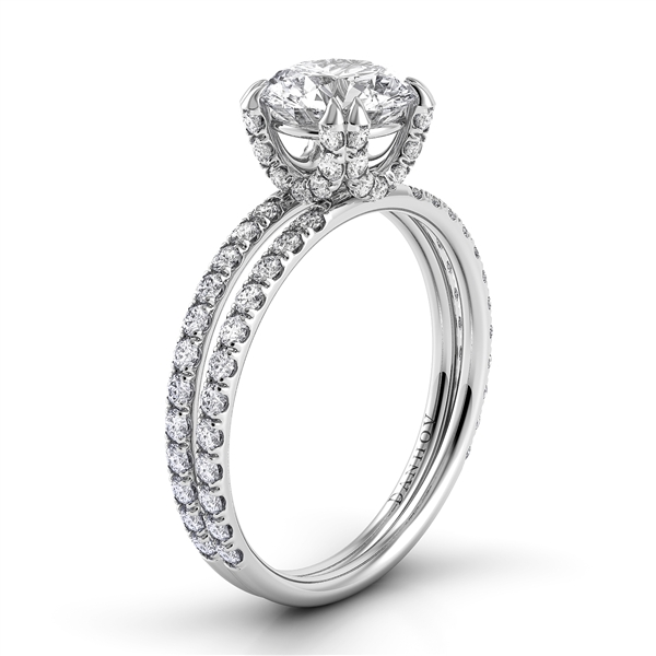 Danhov Eleganza double shank diamond engagement ring