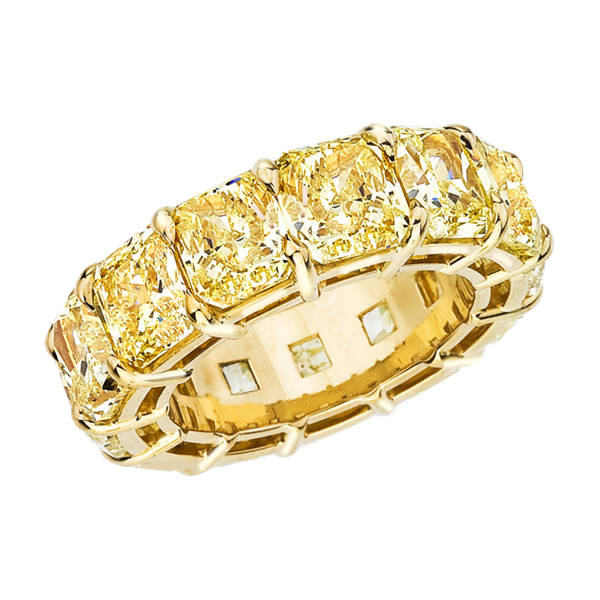 Daniella Design fancy yellow radiant diamond band