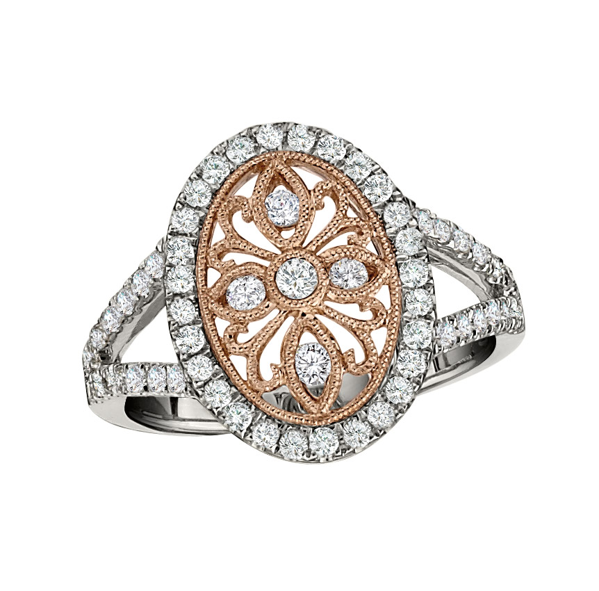 Pe Jay Creations two-tone diamond fashion ring