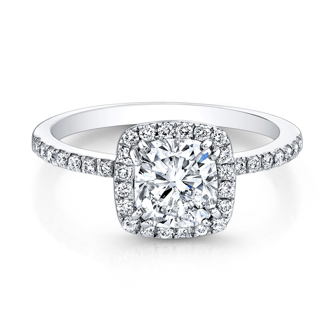 Natalie K for Forevermark cushion diamond engagement ring
