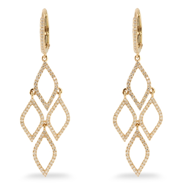 H. Weiss Twisties collection diamond earrings