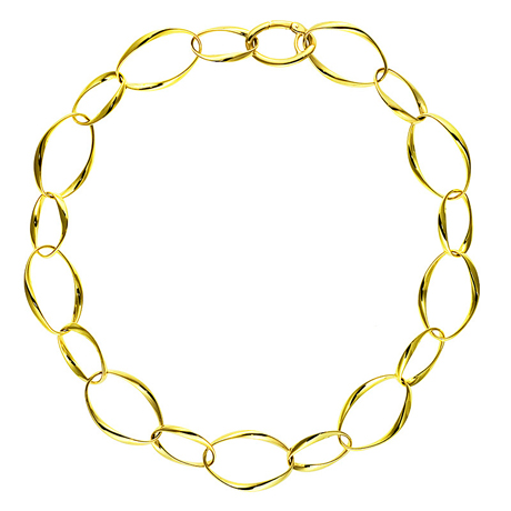 Link necklace in 18k gold by Herco