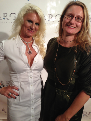 Margo of Margo Manhattan and yours truly at a party last night celebrating the debut of her newest line.