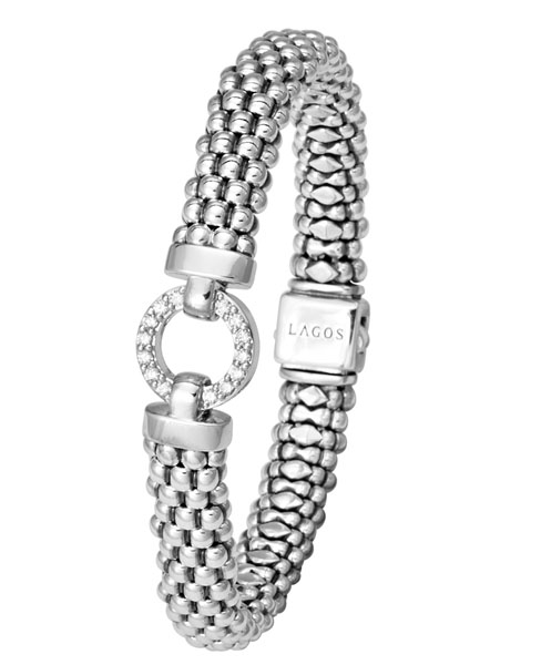 Lagos Enso diamond circle bracelet