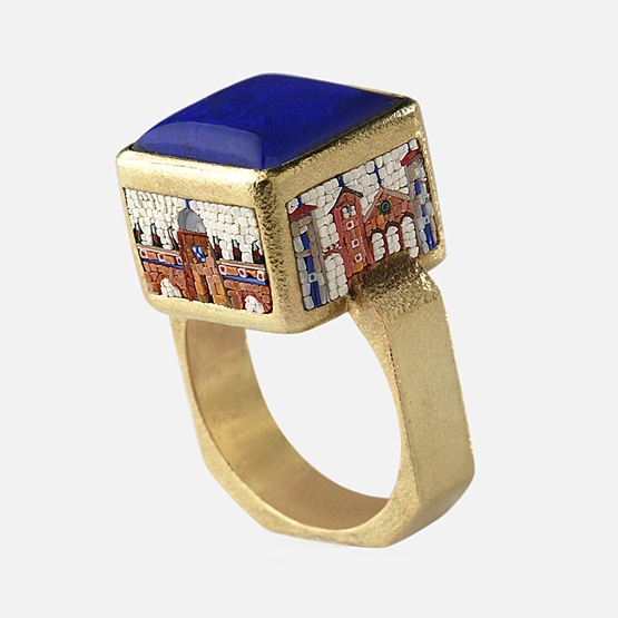 Le Sibille lapis Cubo ring