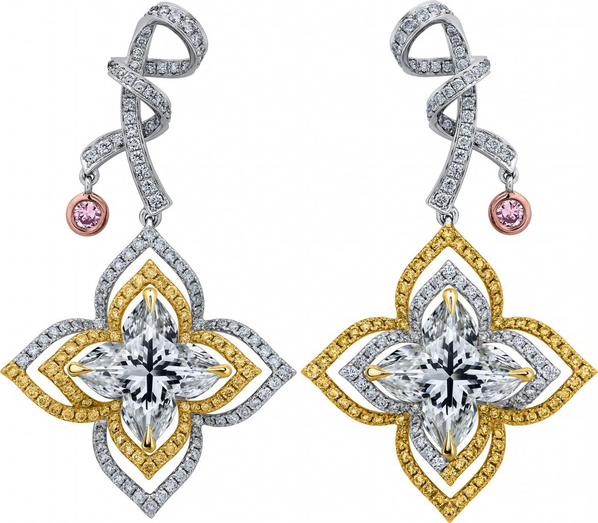 Lili Jewelry Orchidea Cut diamond earrings
