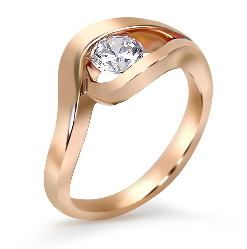 Frank Reubel Designs rose gold engagement ring