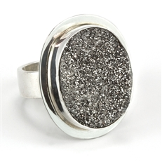 Baroni drusy Showstopper ring