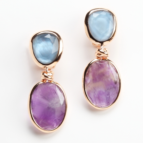 Rina Limor Sunrise collection aventurine earrings