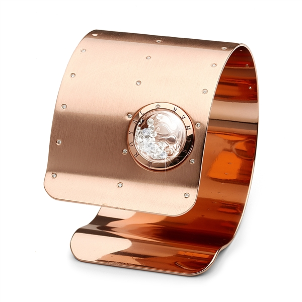 Royal Asscher rose gold matte cuff bracelet