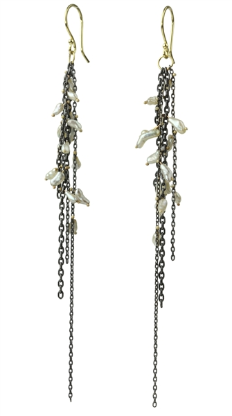 Sarah McGuire pearl fringe earrings