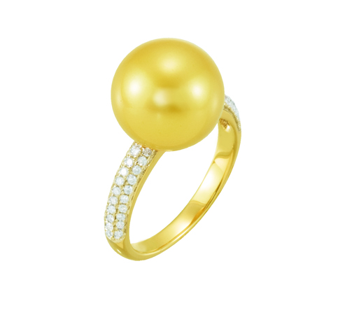 Stuller gold and pearl ring