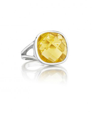 Thistle & Bee citrine ring in silver