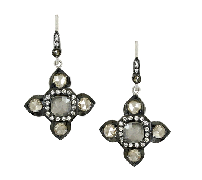 Vivaan by YNY Rhythm diamond slice earrings