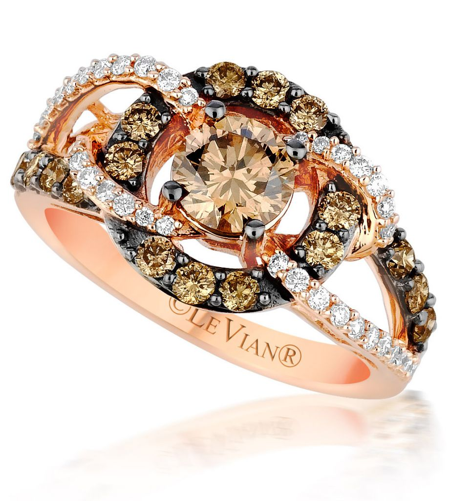 Le Vian Chocolatier Gladiator Weave engagement ring