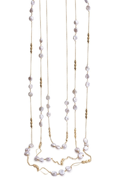 Yvel keshi pearl station necklace