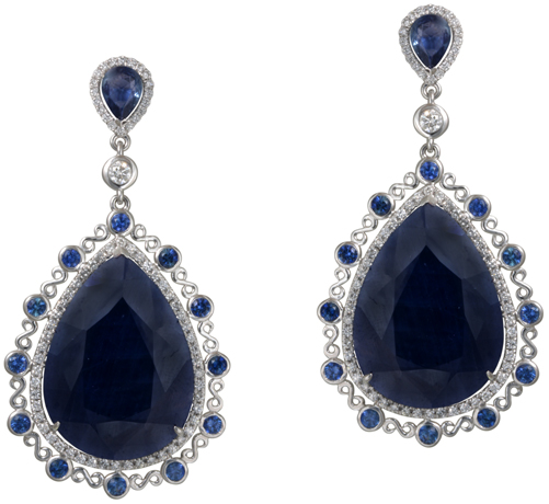 ZDNY & Co. sapphire earrings