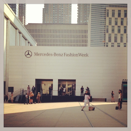 Mercedes-Benz Fashion Week entrance at Lincoln Center in New York City