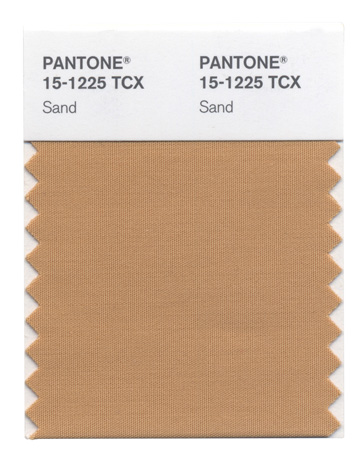 Sand color from Pantone