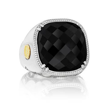 Tacori City Lights black onyx cocktail ring