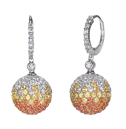 Jye Luxury Collection shaded sapphire ball earrings