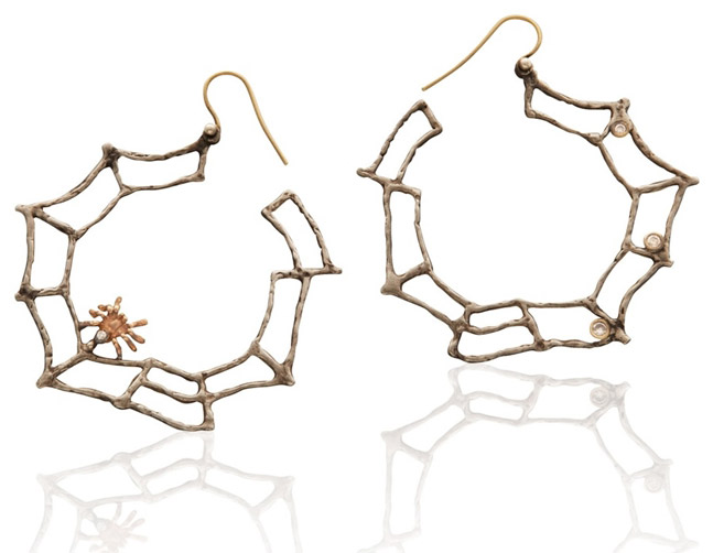 Anna Ruth Henriques web hoop earrings