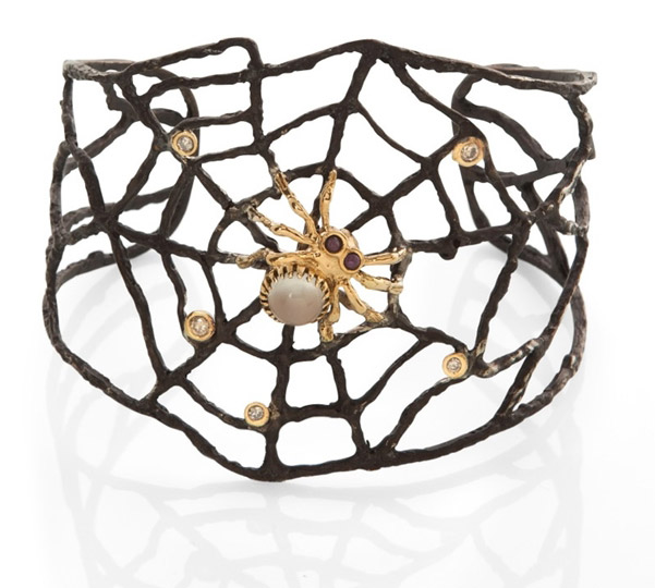 Anna Ruth Henriques blackened web cuff bracelet