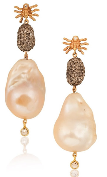 Anna Ruth Henriques pearl spider drop earrings