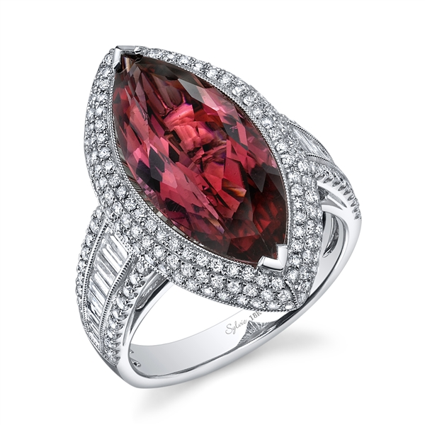 Sylvie Collection pink tourmaline marquise ring