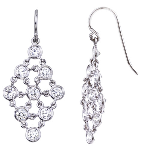 Jade Trau Falling Snow diamond earrings