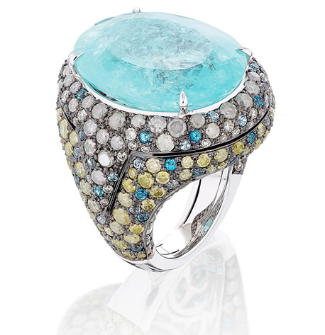 Miiori NY paraiba tourmaline cocktail ring