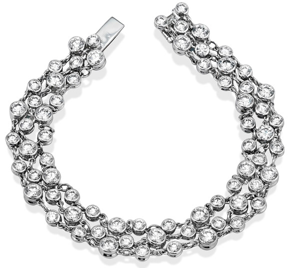 Simon G. bezel-set diamond bracelet