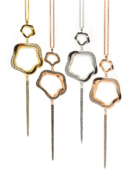 Babette Wasserman open flower necklaces
