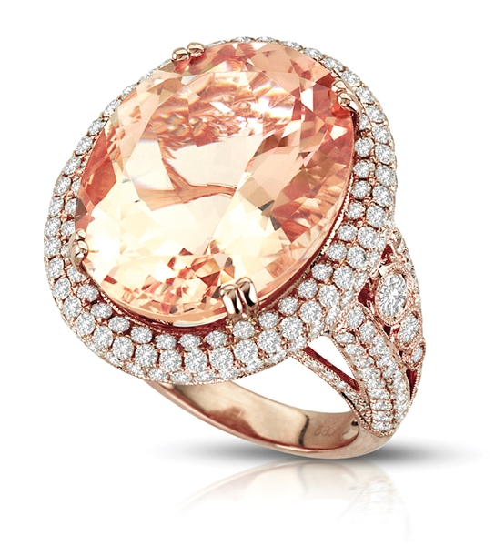 iZi Creations oval morganite cocktail ring