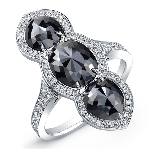 Rahaminov black diamond ring