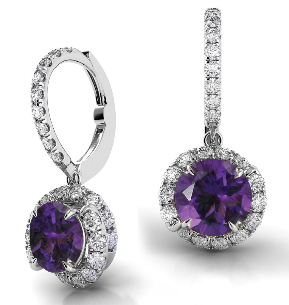 Danhov Abbraccio amethyst drop earrings