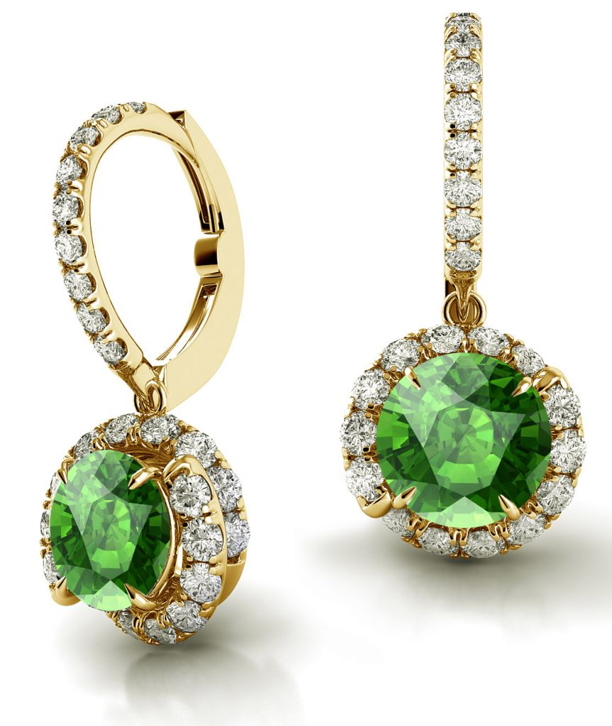Danhov Abbraccio green tourmaline earrings