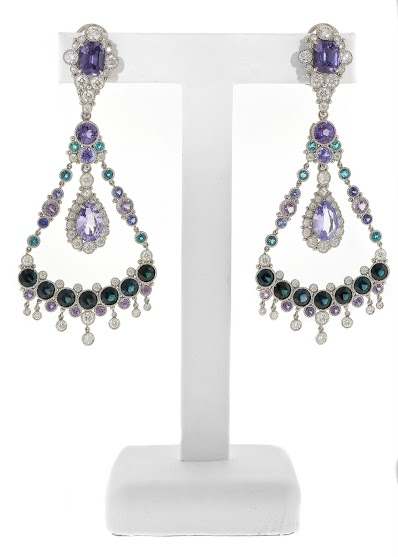 Deidre Featherstone Best Use of Platinum and Color earrings AGTA Spetrum