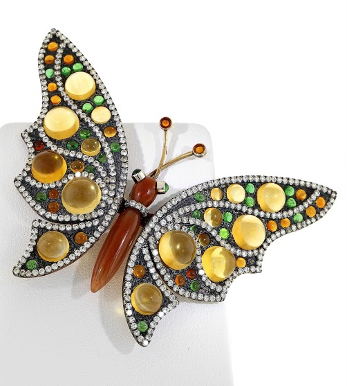 Maurice Di Biaggio Butterfly brooch 2nd Place Classical AGTA Spectrum