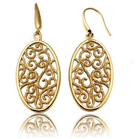 Earrings in 18k gold-plated silver by Charles Garnier Paris